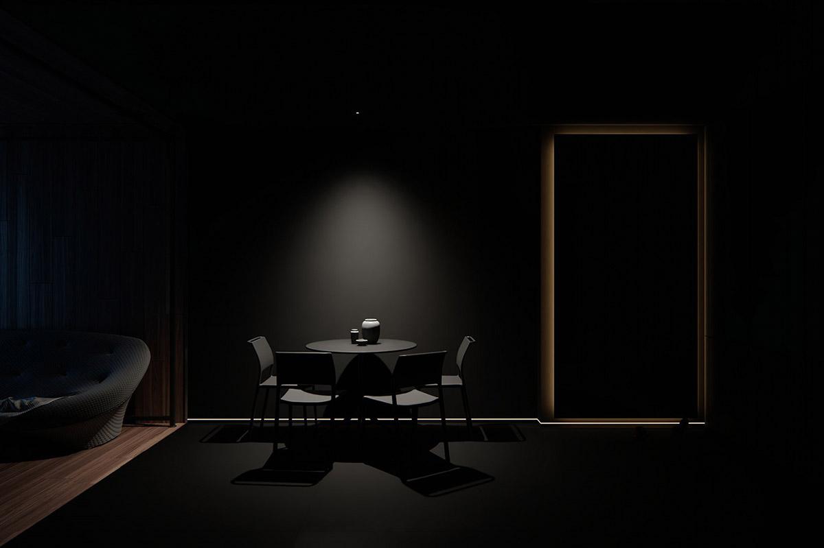 Sử Dụng Tông Màu Tối Để Làm Nổi Bật Căn Phòng Thêm Phần Sang Trọng - Black dining room