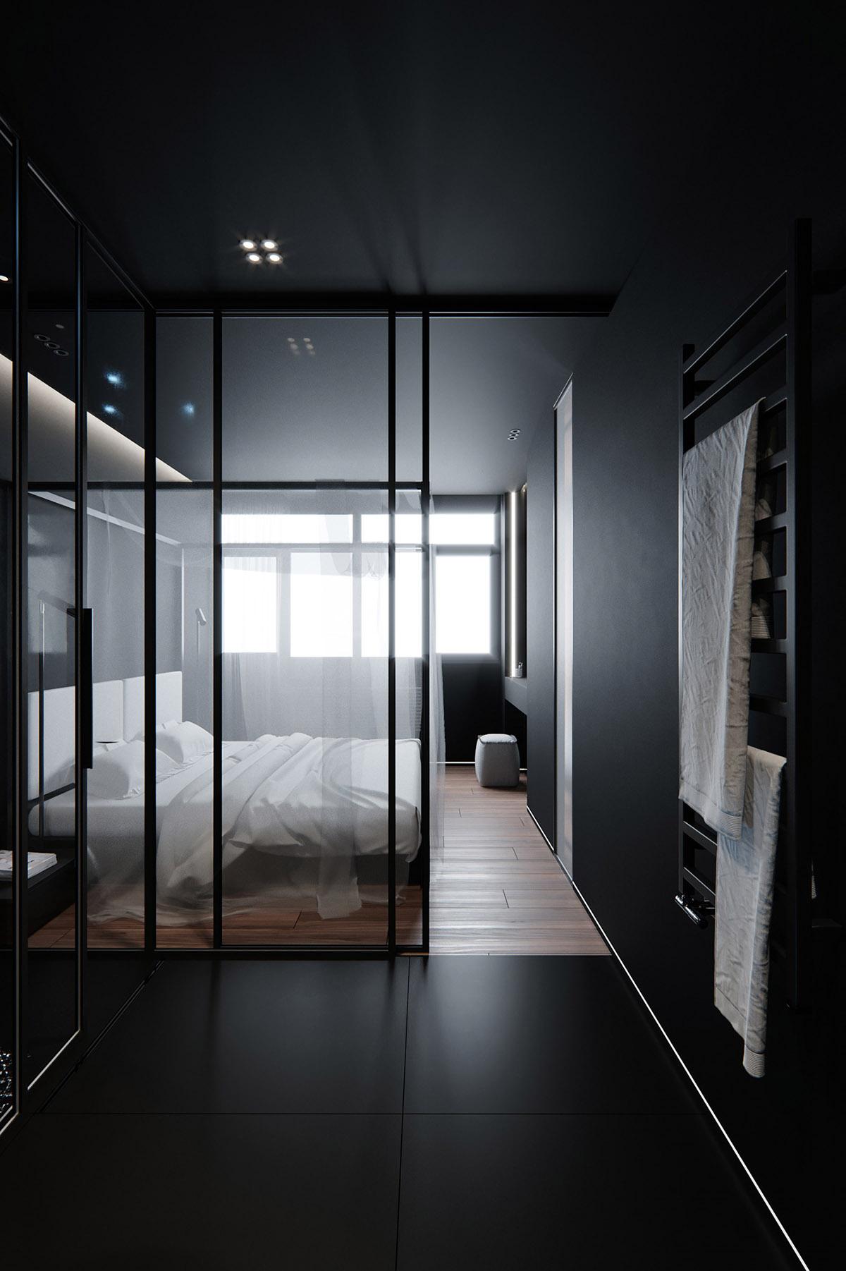 Sử Dụng Tông Màu Tối Để Làm Nổi Bật Căn Phòng Thêm Phần Sang Trọng - Black floor tiles