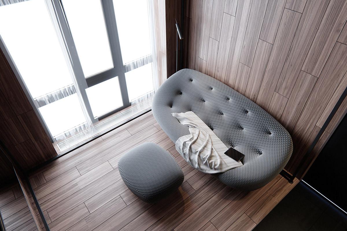Sử Dụng Tông Màu Tối Để Làm Nổi Bật Căn Phòng Thêm Phần Sang Trọng - Contemporary sofa