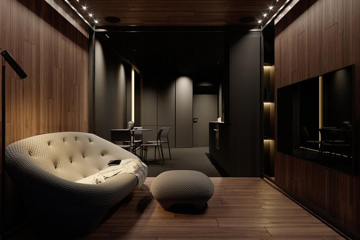 Sử Dụng Tông Màu Tối Để Làm Nổi Bật Căn Phòng Thêm Phần Sang Trọng - Home lighting scheme