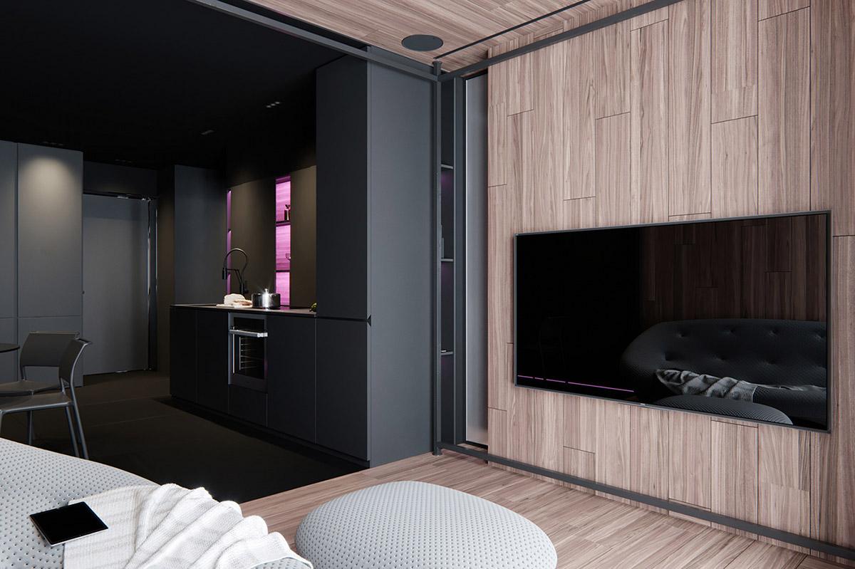 Sử Dụng Tông Màu Tối Để Làm Nổi Bật Căn Phòng Thêm Phần Sang Trọng - Interior wood cladding