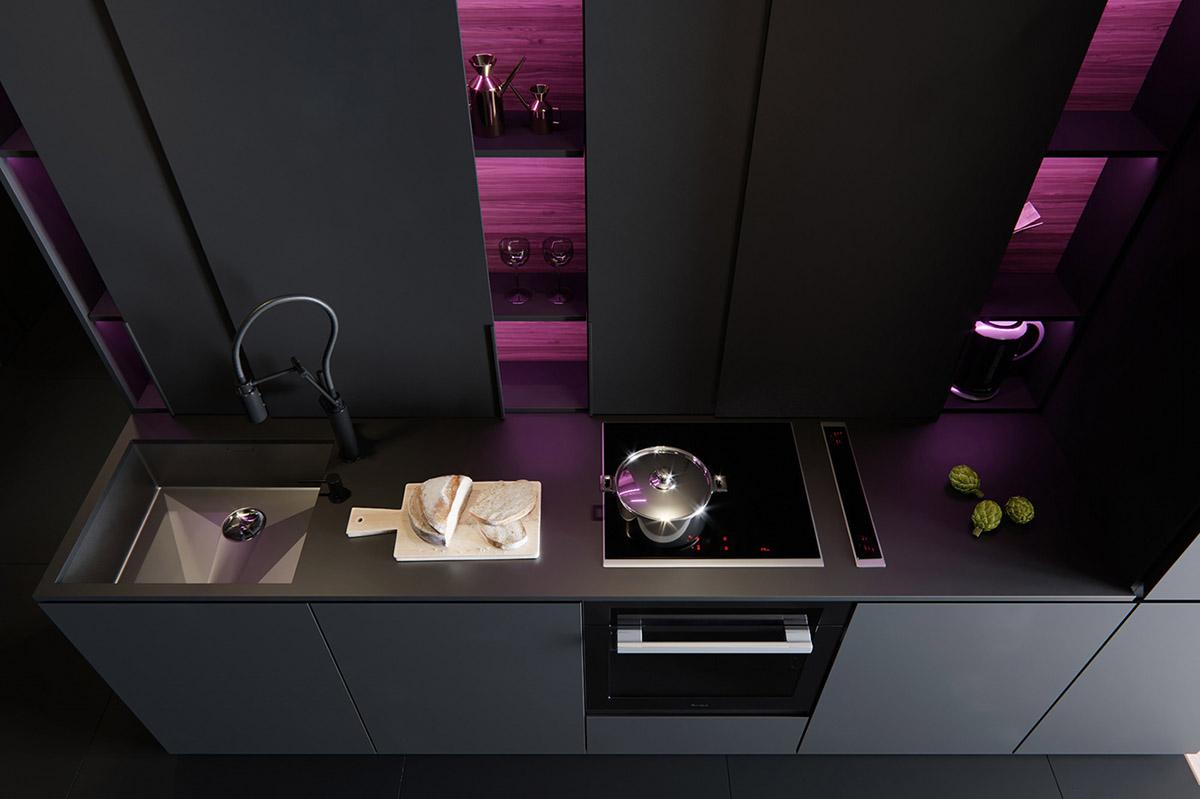 Sử Dụng Tông Màu Tối Để Làm Nổi Bật Căn Phòng Thêm Phần Sang Trọng - Modern kitchen