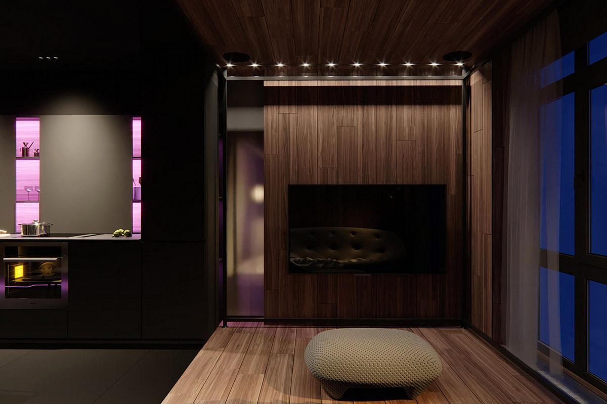 Sử Dụng Tông Màu Tối Để Làm Nổi Bật Căn Phòng Thêm Phần Sang Trọng - Modern lighting