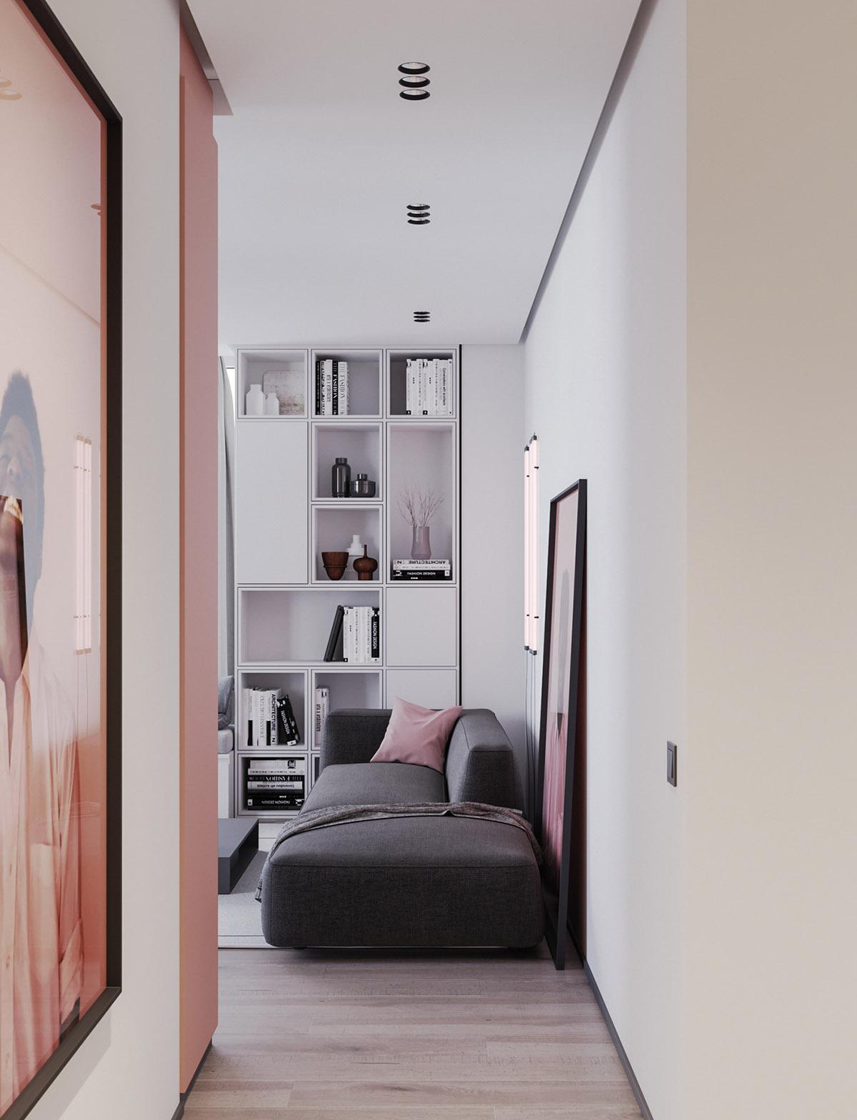 Một số thiết kế nội thất sử dụng màu hồng và xám - Pink grey decor