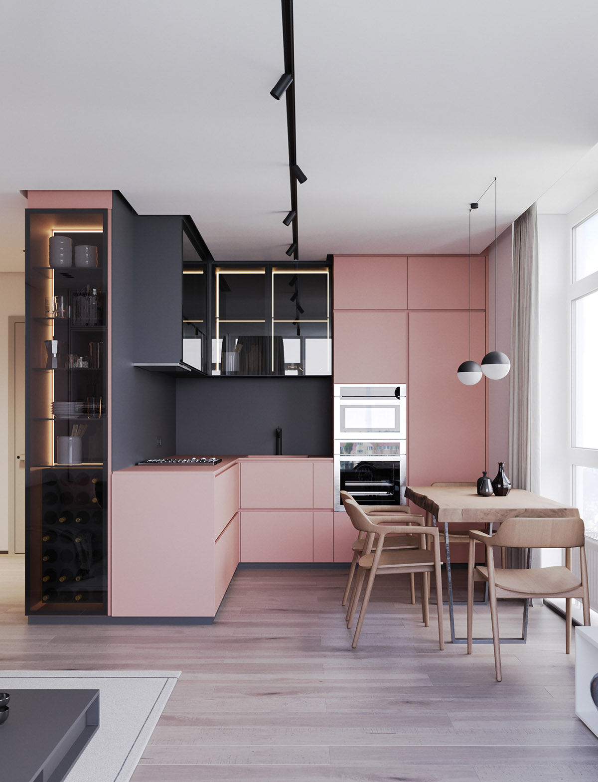 Grey And Pink Living Room Decor: A Striking Example Of Interior Design Using Pink & Grey
