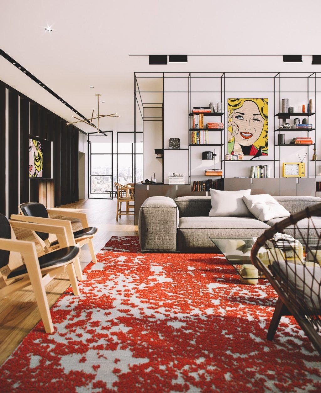 Pop Art Style Penthouse In Tel Aviv