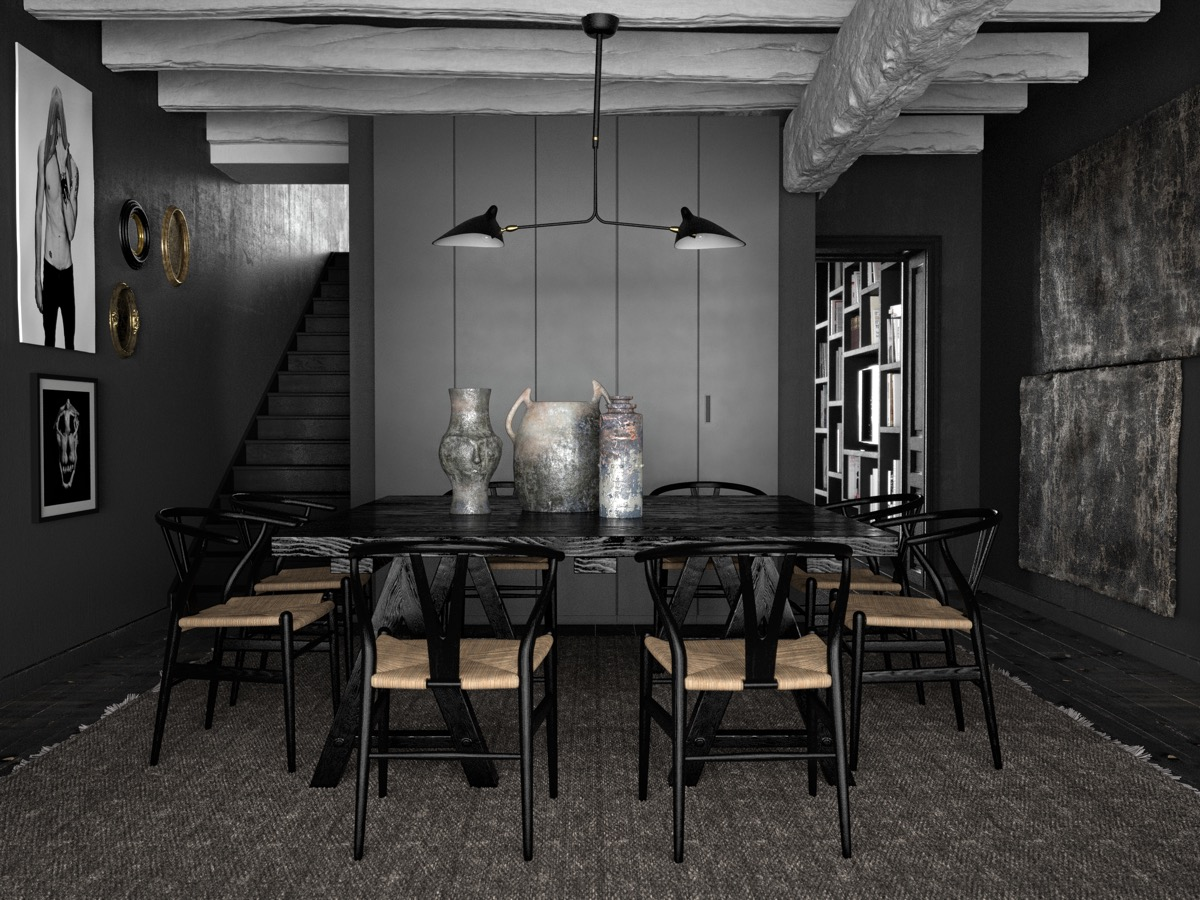 33 Black Dining Rooms That Your Dinner, Black Dining Room
