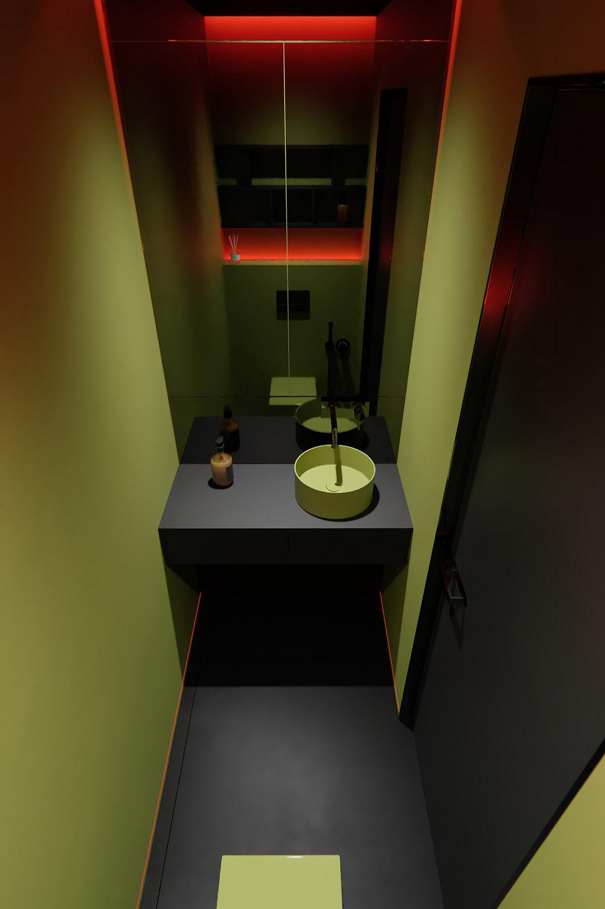 Sử Dụng Tông Màu Tối Để Làm Nổi Bật Căn Phòng Thêm Phần Sang Trọng - Small basin