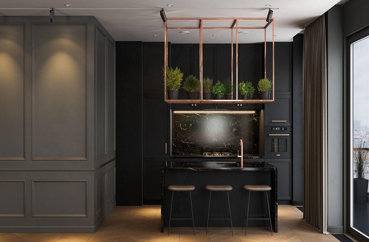 Dark Interior A Modern Lifestyle D Signers