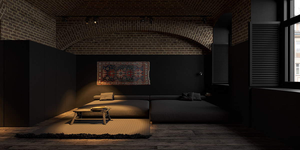 Modern Dark Interior Design