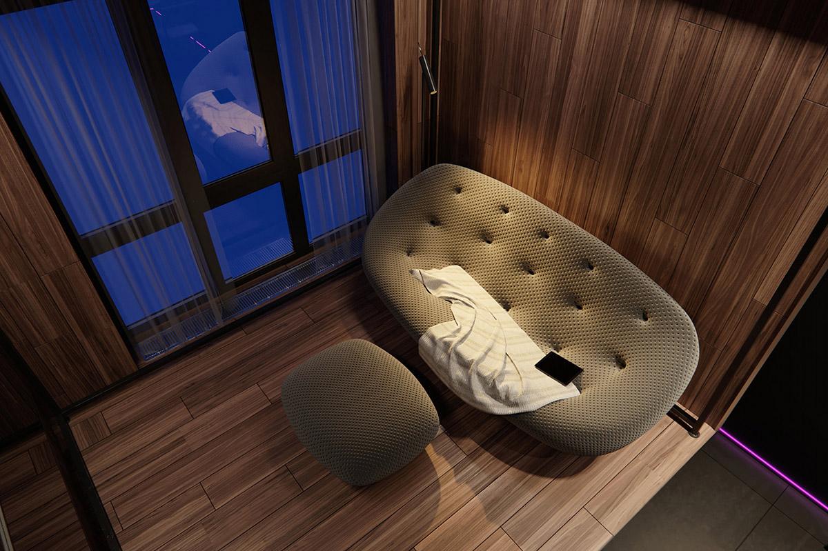 Sử Dụng Tông Màu Tối Để Làm Nổi Bật Căn Phòng Thêm Phần Sang Trọng - floor reading lamp