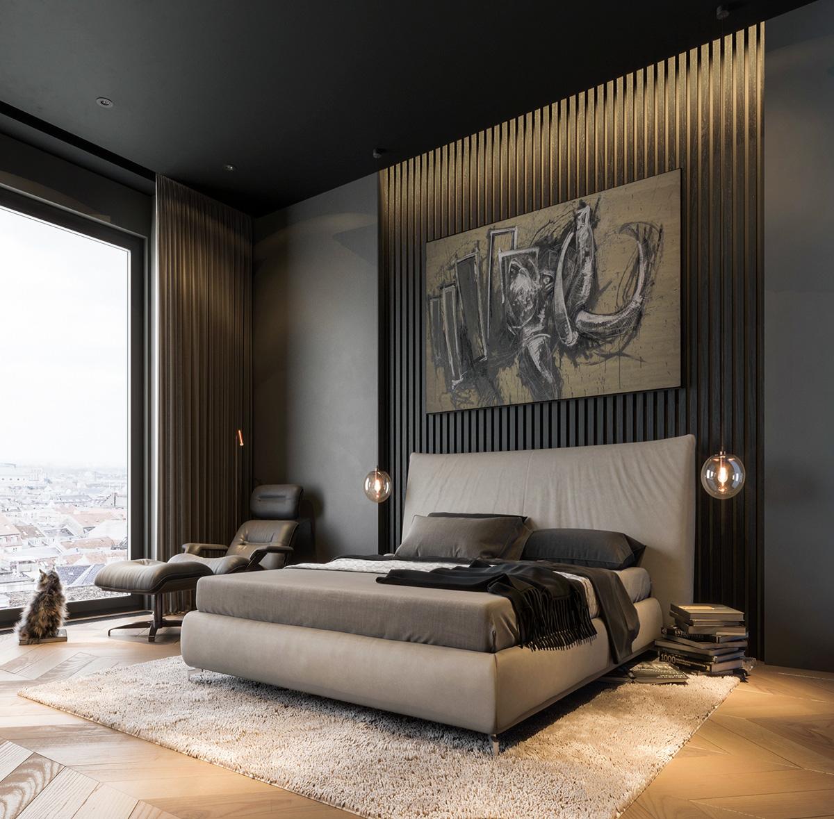 Modern Home Design Ideas Gray: Modern Dark Interior Design