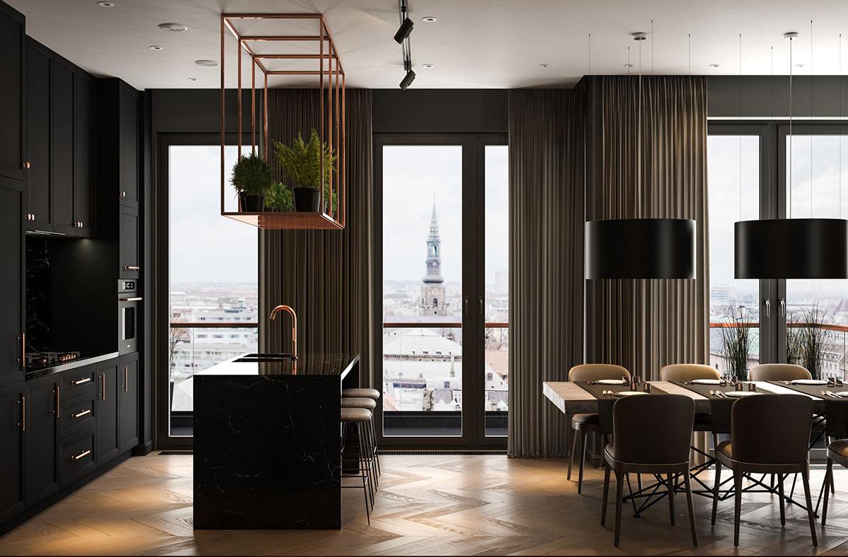 Interior Design Modern: Modern Dark Interior Design