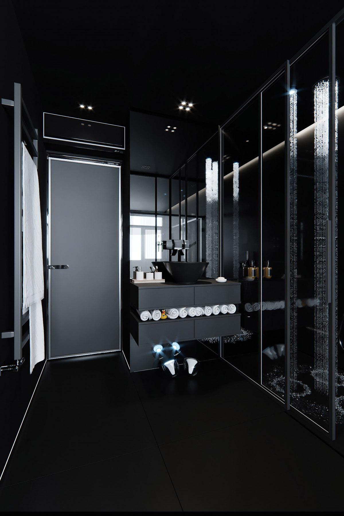 Sử Dụng Tông Màu Tối Để Làm Nổi Bật Căn Phòng Thêm Phần Sang Trọng - modern bathroom vanity 2