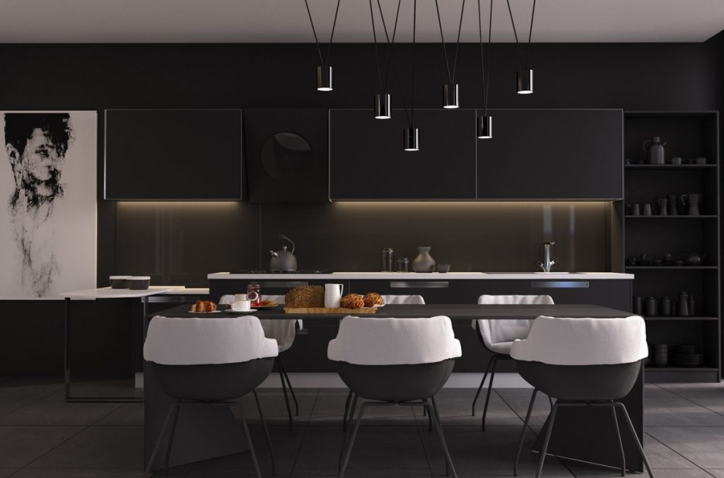Image of: 33 Black Dining Rooms That Your Dinner Guests Will Adore