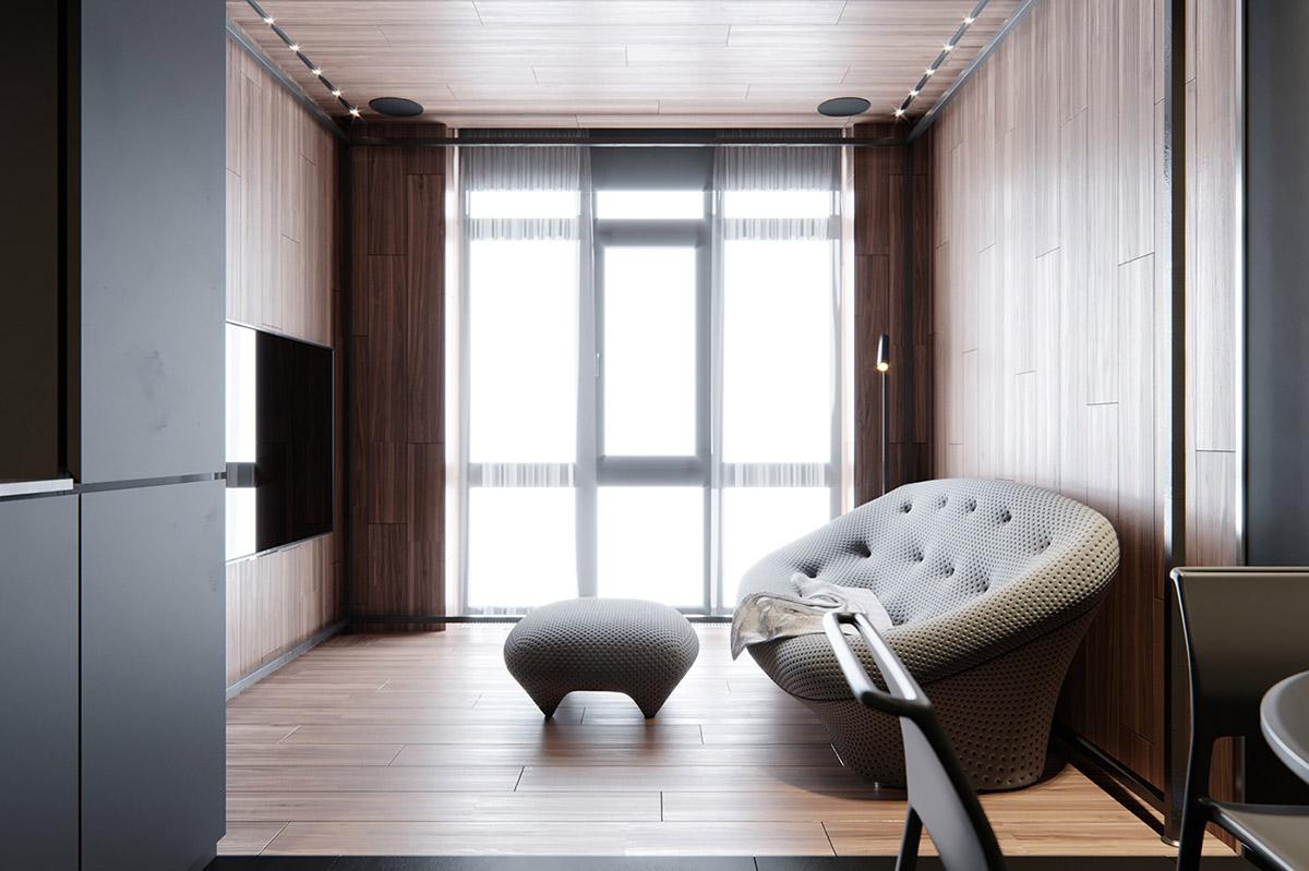 Sử Dụng Tông Màu Tối Để Làm Nổi Bật Căn Phòng Thêm Phần Sang Trọng - ottoman coffee table