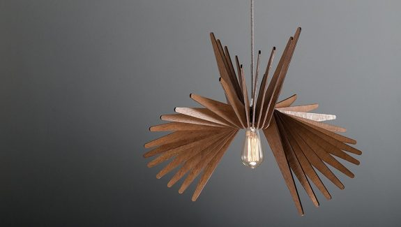 Product of the week cool sculptural wooden hanging lights