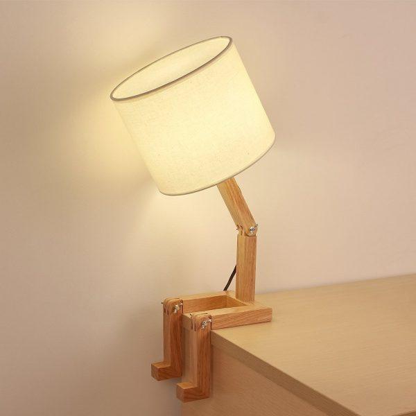 Product Of The Week Cute Wooden Stick Figure Lamp Obsigen