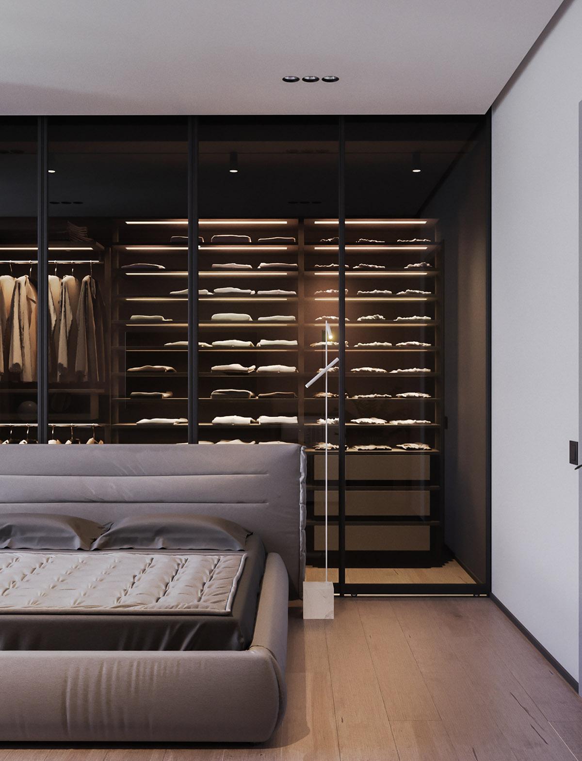 Một số thiết kế nội thất sử dụng màu hồng và xám - unique floor lamp 1