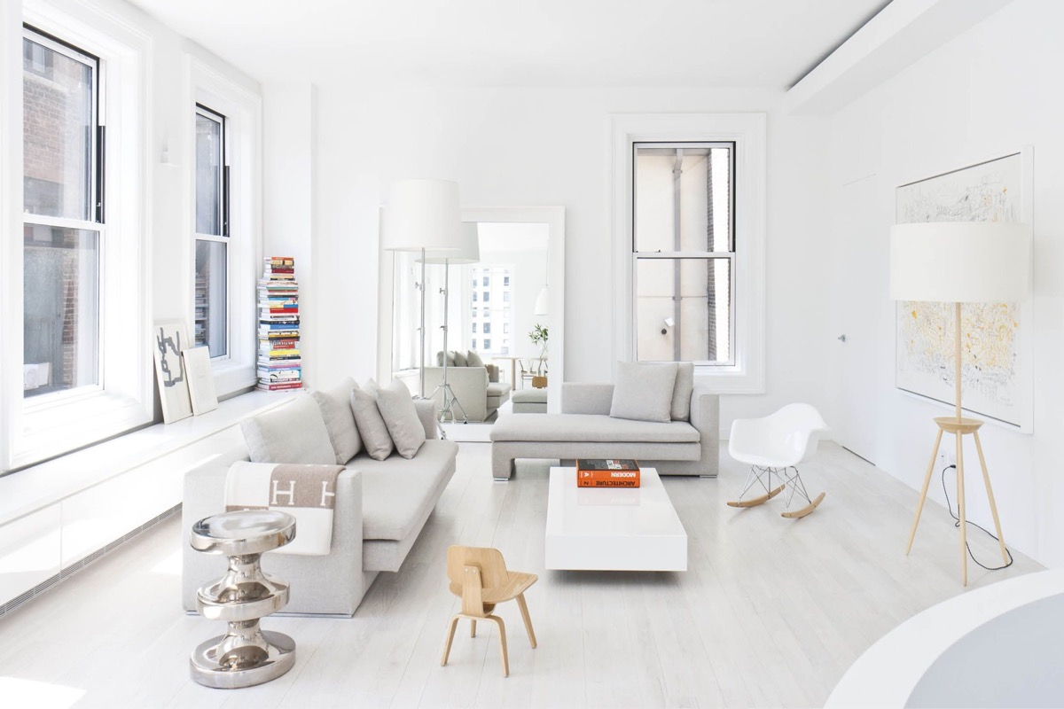 30 White Living Rooms That Exude Purity