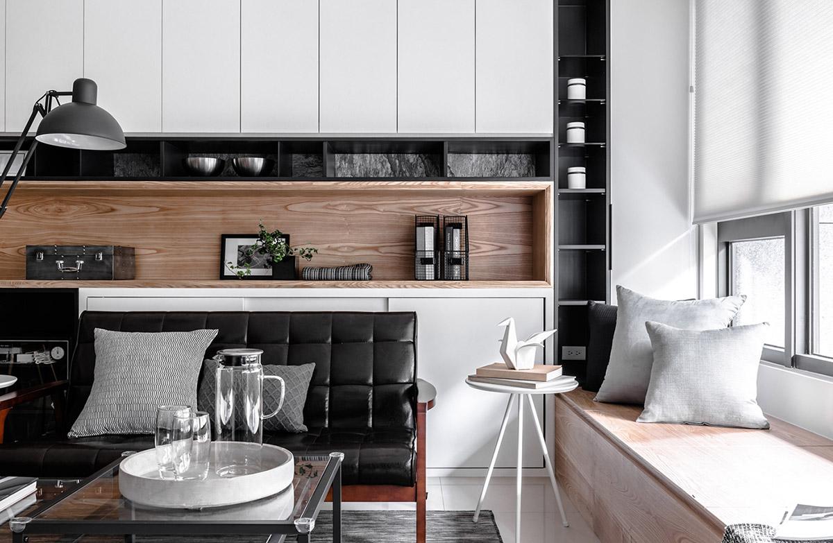 Các ý tưởng về thiết kế nội thất - Bespoke fitted living room storage