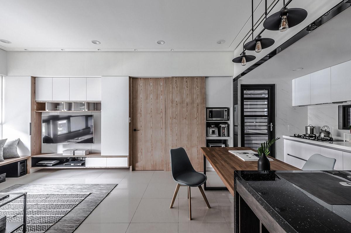 Các ý tưởng về thiết kế nội thất - Black dining chair