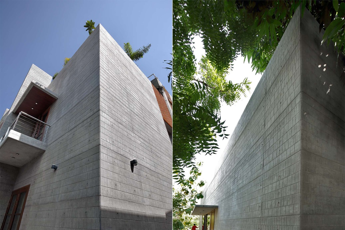 A Colour Rich Indian Home With Concrete Architecture And