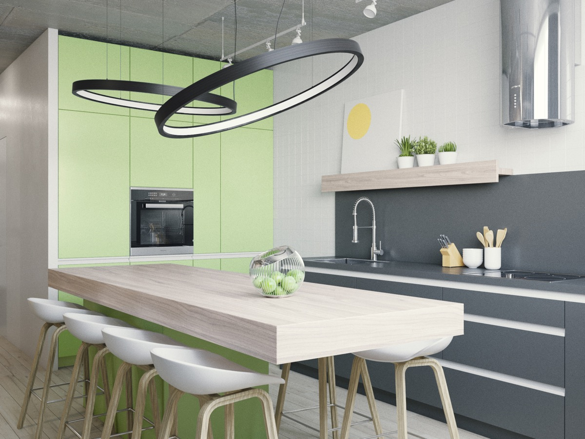 apple green kitchen accessories 33 gorgeous green kitchens and ways to accessorize them 4160