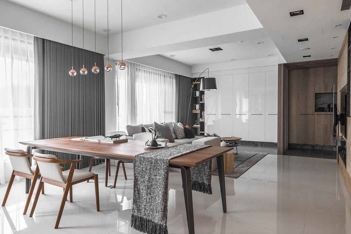 Các ý tưởng về thiết kế nội thất - Grey table runner