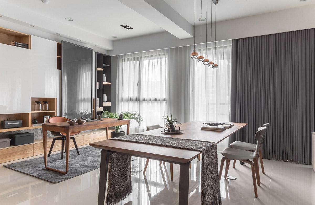 Các ý tưởng về thiết kế nội thất - Grey window drapes