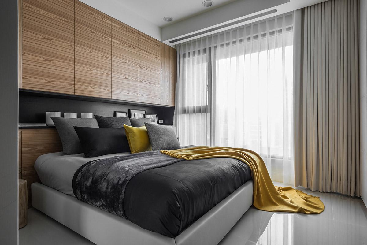 Các ý tưởng về thiết kế nội thất - Headboard storage