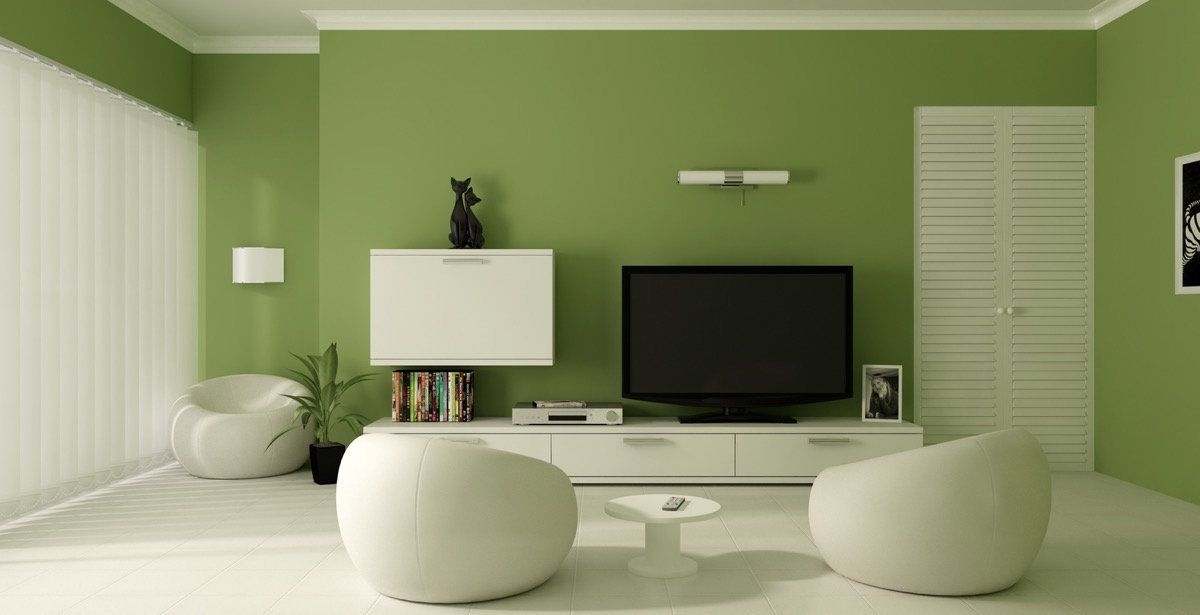 30 Gorgeous Green Living Rooms And Tips