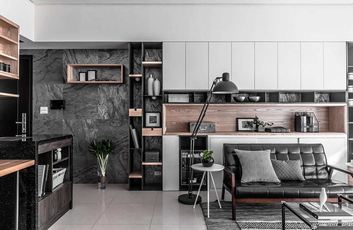 Các ý tưởng về thiết kế nội thất - Modern black anglepoise floor lamp