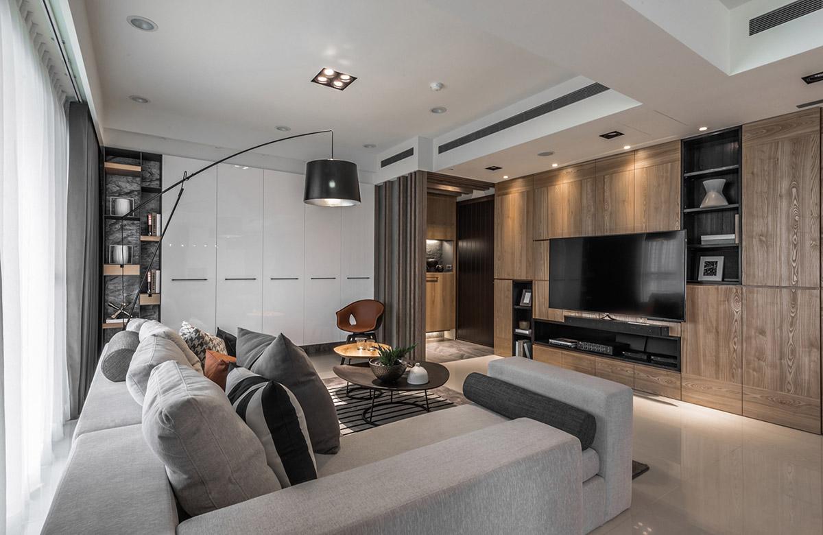 Các ý tưởng về thiết kế nội thất - Modern grey sofa