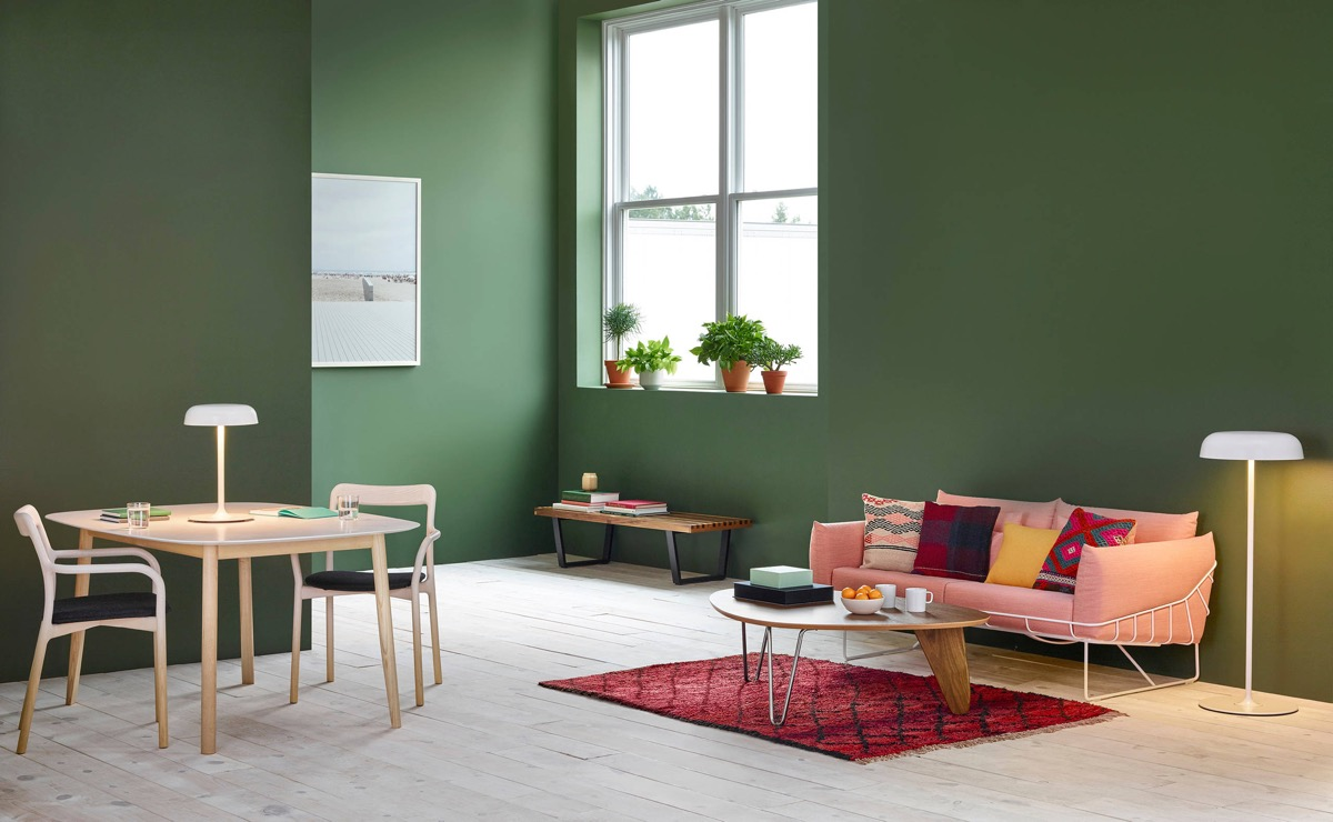 pink and green living room | 2019 Color Trends