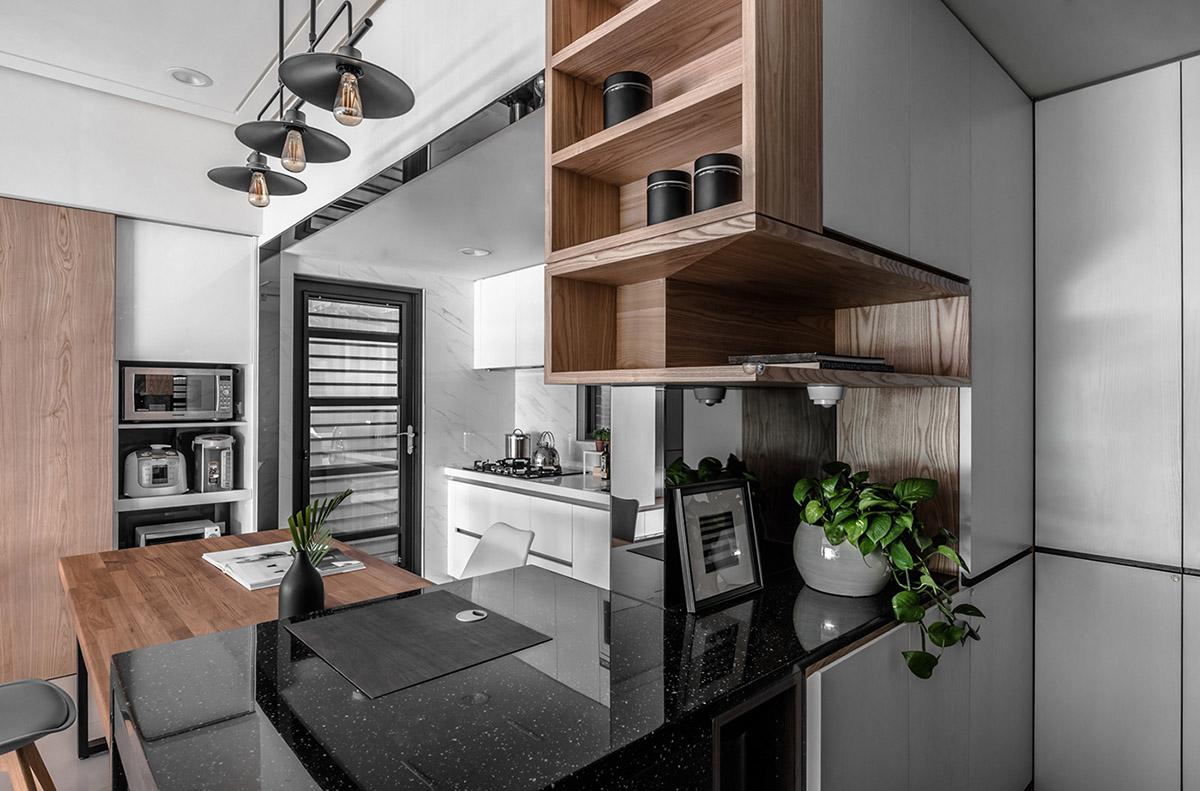 Các ý tưởng về thiết kế nội thất - Open kitchen shelving