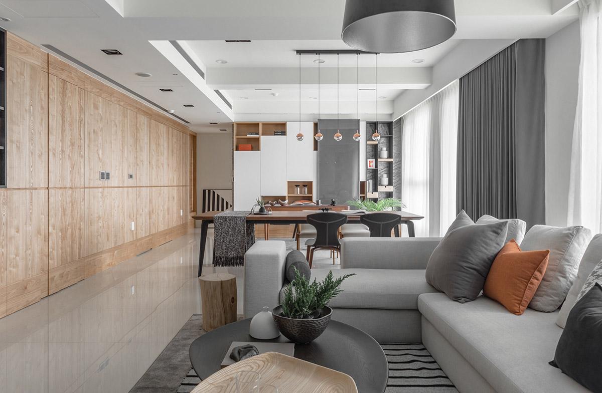 Các ý tưởng về thiết kế nội thất - Open plan living room decor