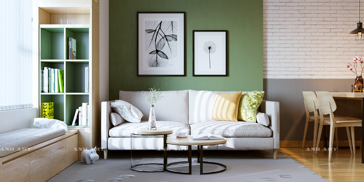 30 gorgeous green living rooms and tips for accessorizing them - Sage green living room ...