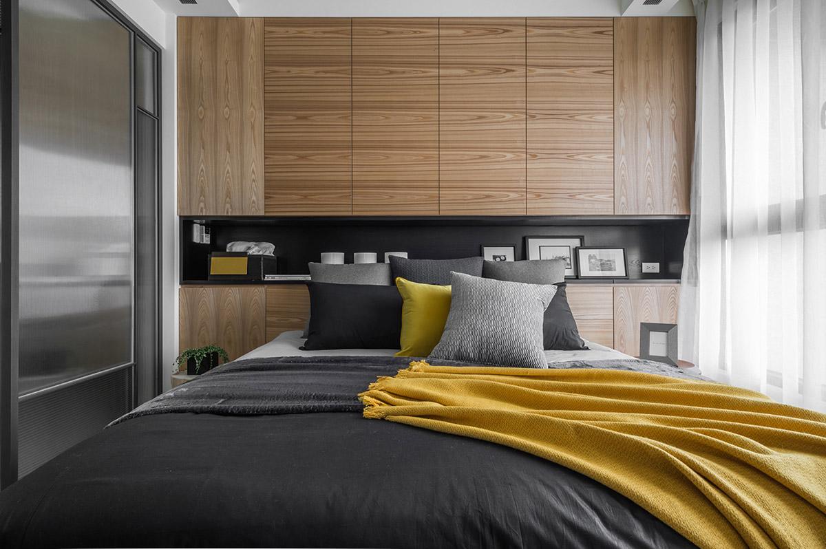 Các ý tưởng về thiết kế nội thất - Yellow accent bedroom