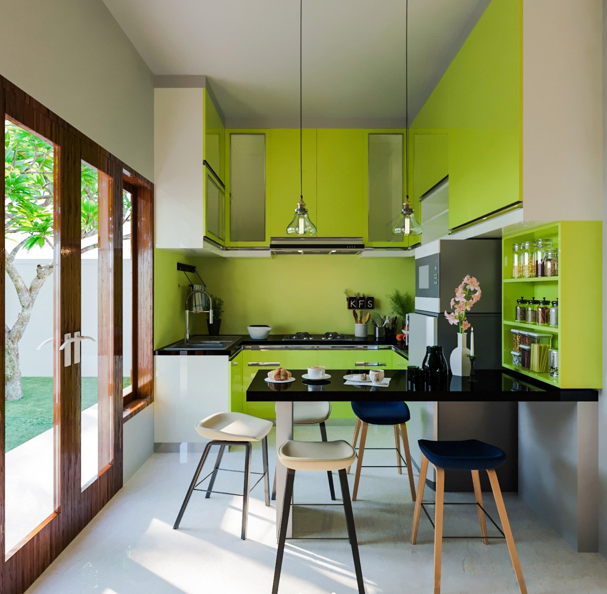 Lime Green Home Decor: 33 Gorgeous Green Kitchens And Ways To Accessorize Them