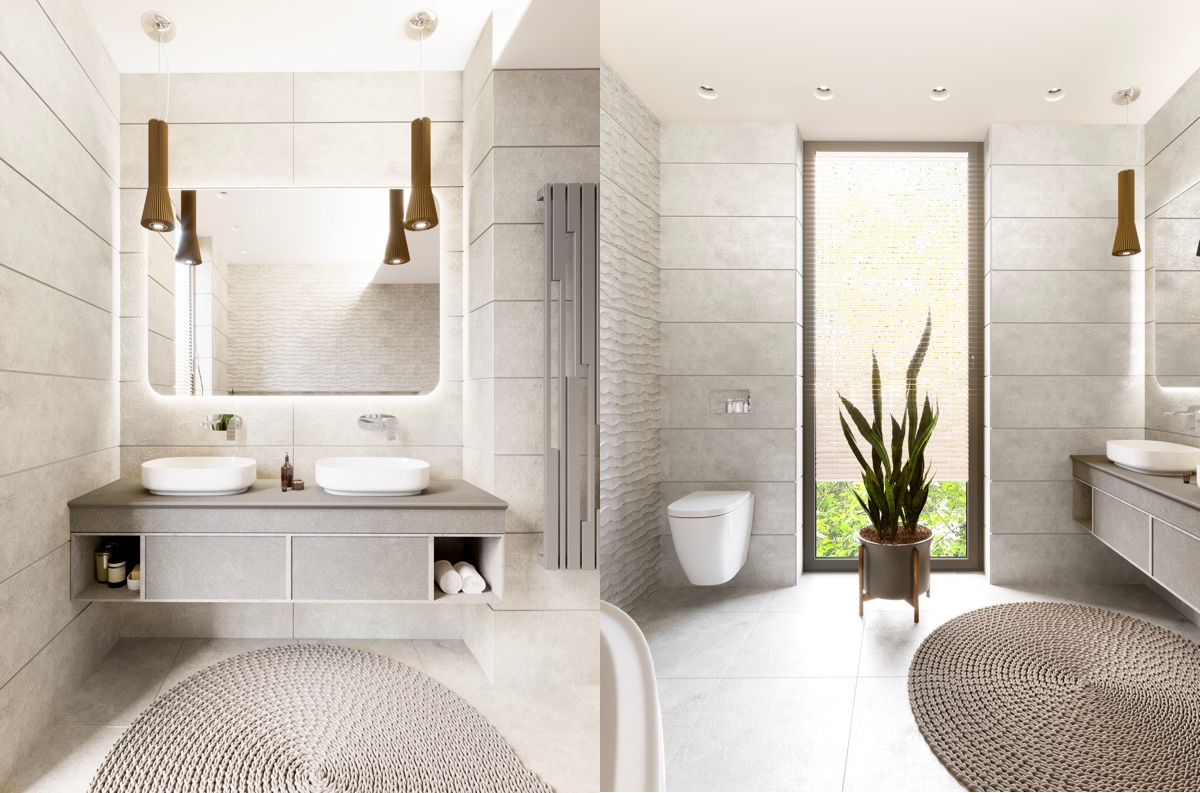 11 Visualizer Anna Sharavara Grey And White Bathroom