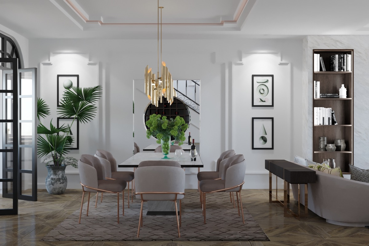 33 Dazzling White Dining Rooms Plus, White Dining Room Walls