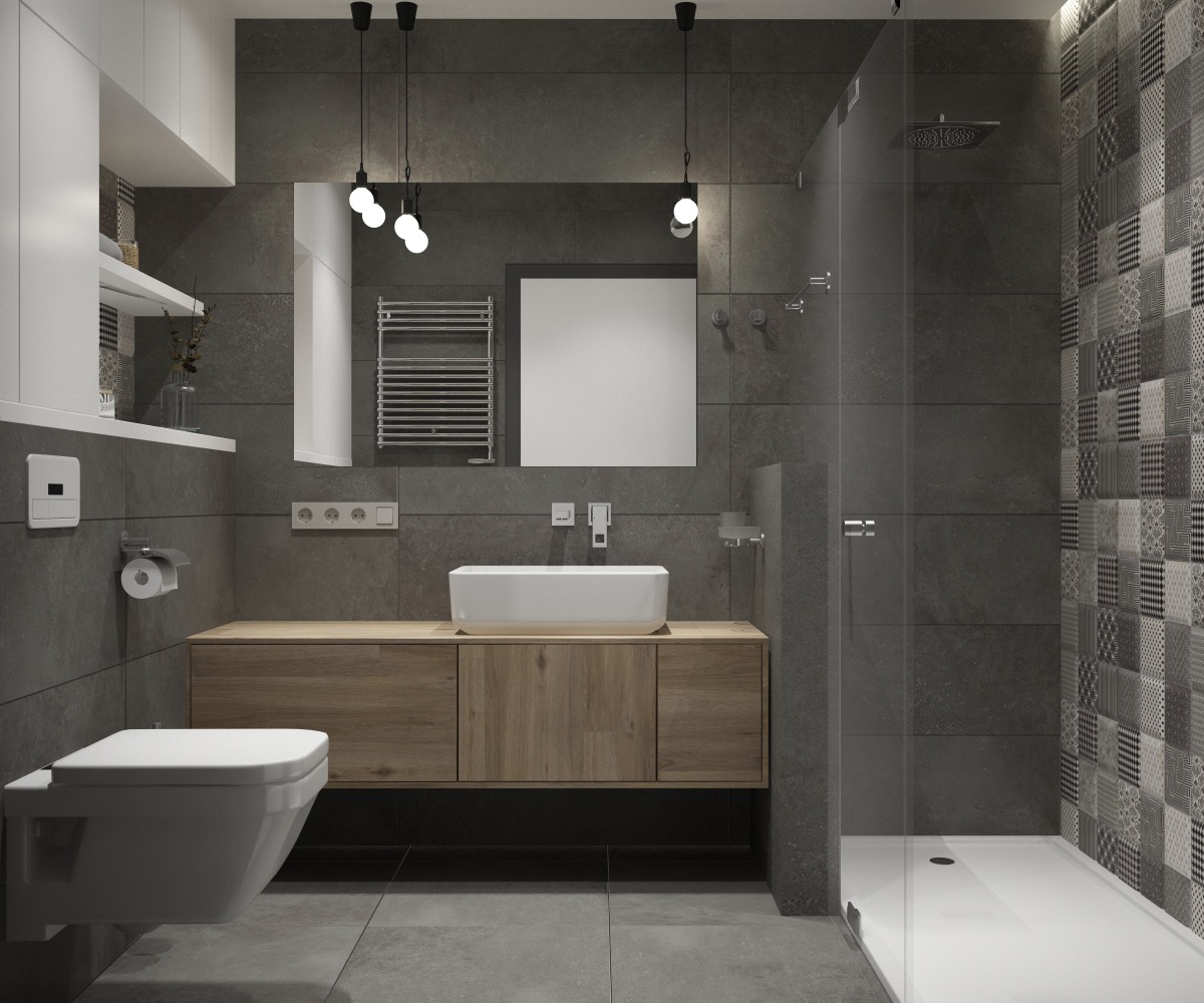 Bathroom Ideas: 36 Modern Grey & White Bathrooms That Relax Mind Body & Soul