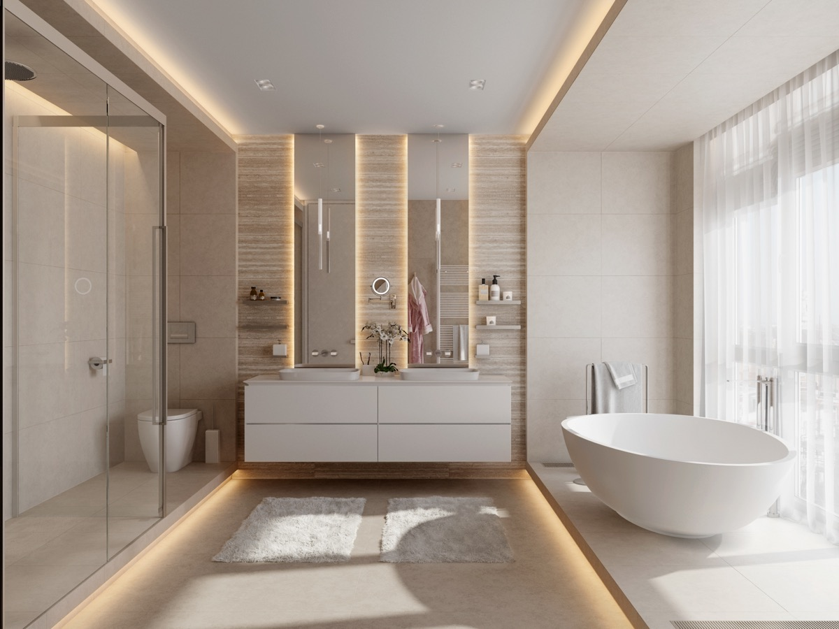 50 Luxury Bathrooms And Tips You Can