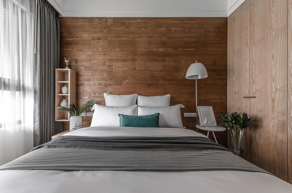 Các ý tưởng về thiết kế nội thất - wooden accent walls