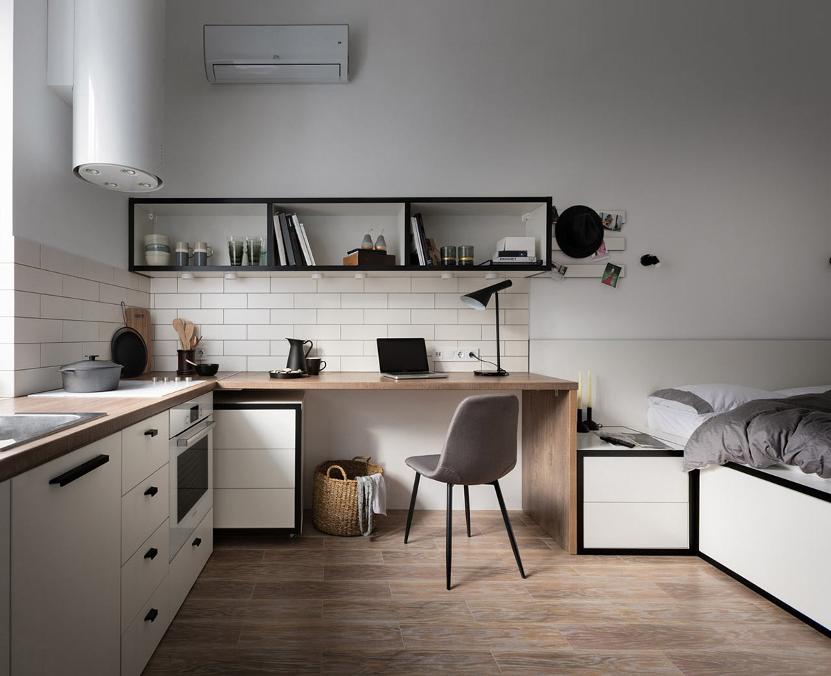 Studio Apartment Kitchen Design: Designing A Living Space Under 18 Square Metres: Challenge