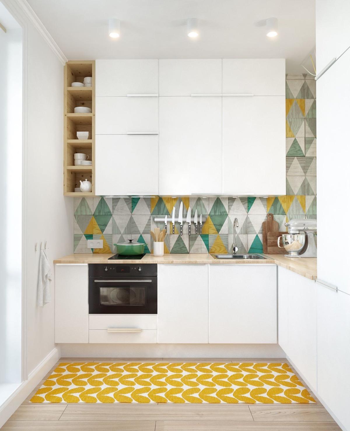 Small Space Simple Kitchen Design L Shape
