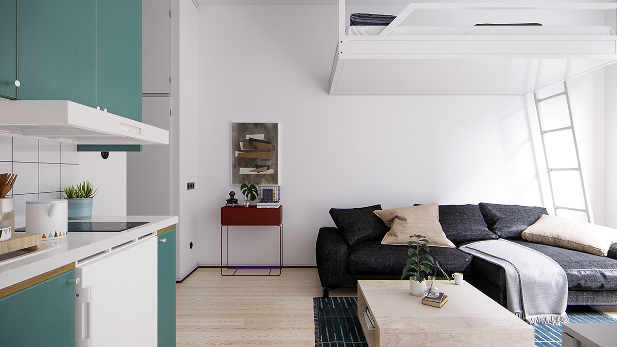 5 Small Space Apartments That Use Clever Ways To Maximize Space
