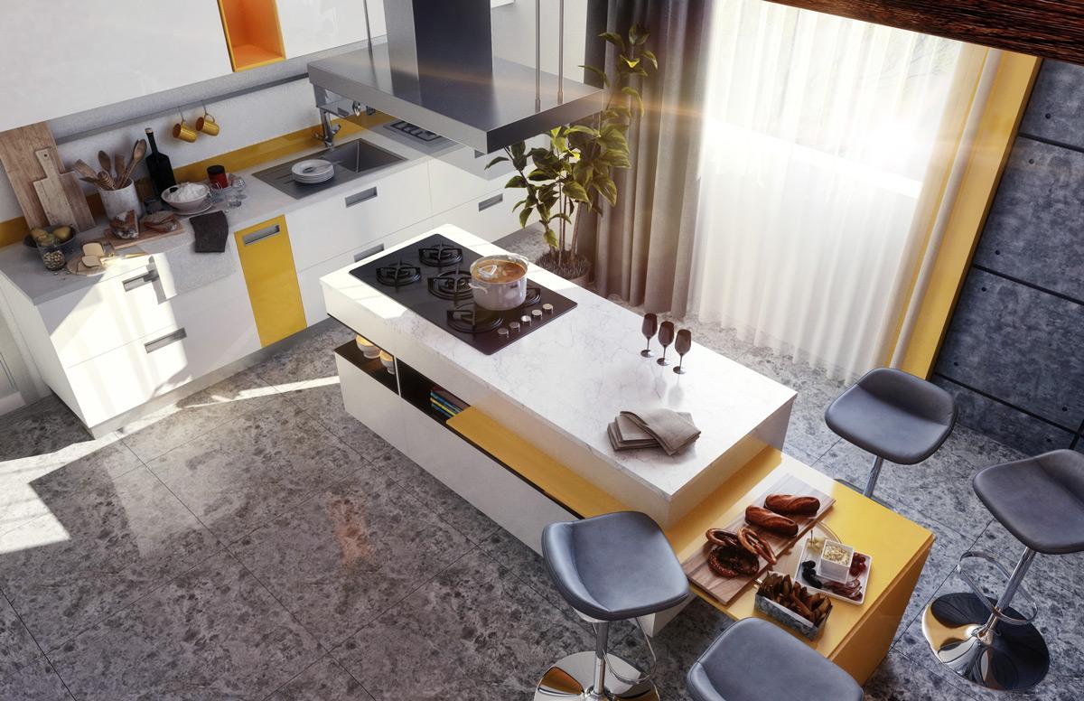 Picture of: 50 Stunning Modern Kitchen Island Designs