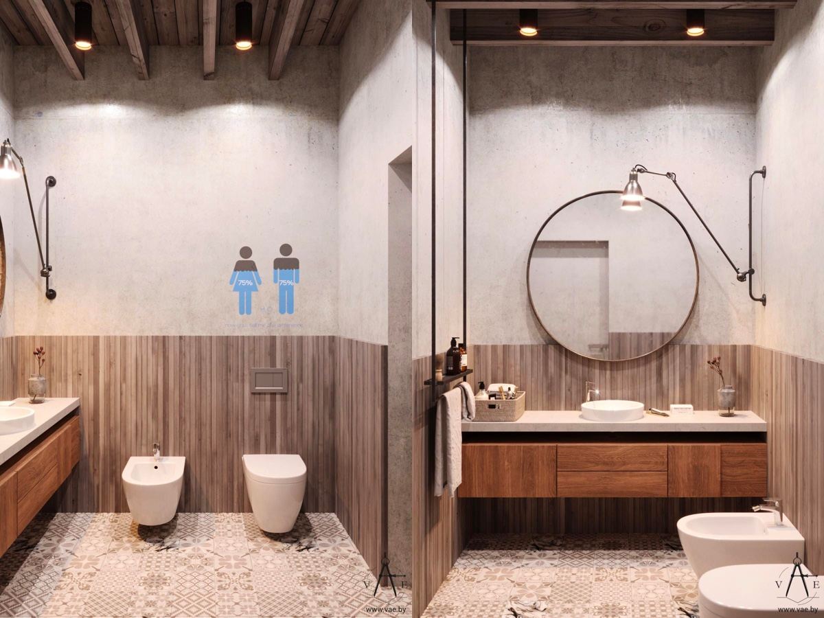 51 Industrial Style Bathrooms Plus Ideas & Accessories You Can ...